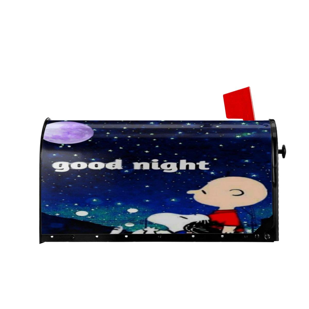 LYYTZ/_id Charlie Brown Meeting Snoopy for The First Time Mailbox Covers Magnetic Letter Post Box Wraps Cover for Standard Size,21 Lx 18 W//25.5 Lx 21 W