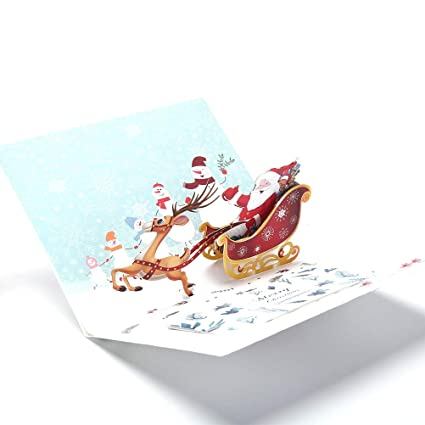 Amazon Com Water Hep Lang Christmas Cards Merry Xmas 3d