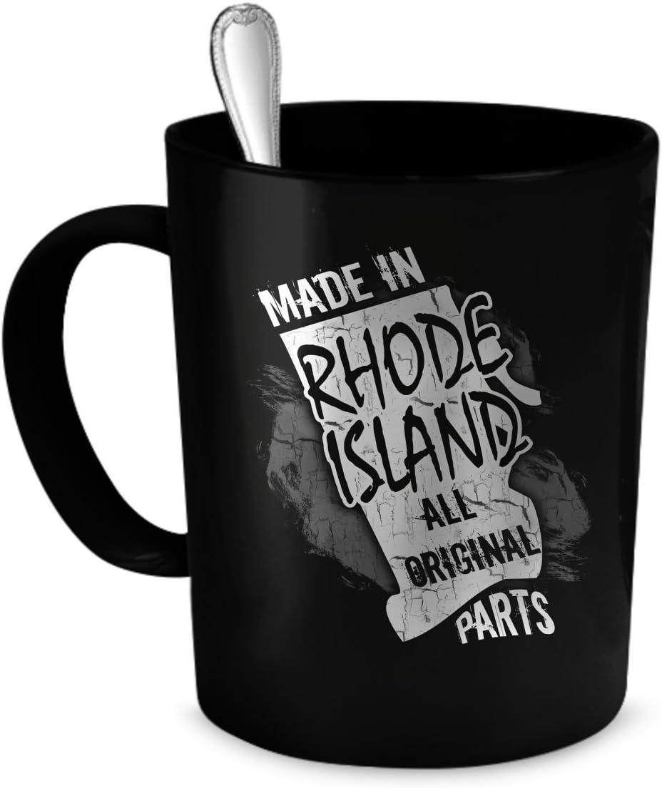 Amazon Com Rhode Island Coffee Mug Rhode Island Gift 11 Oz Black Kitchen Dining