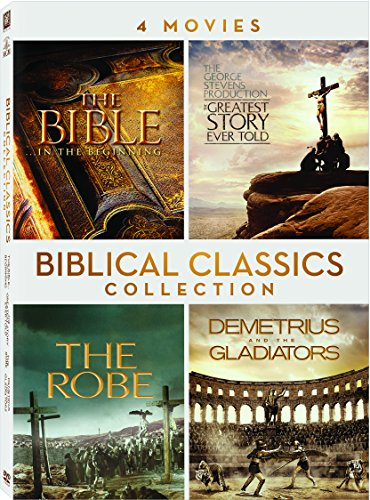 Biblical Classics Quadruple Feature: The Bible In The Beginning / The Greatest Story Ever Told / The Robe / Demetrius and the Gladiators