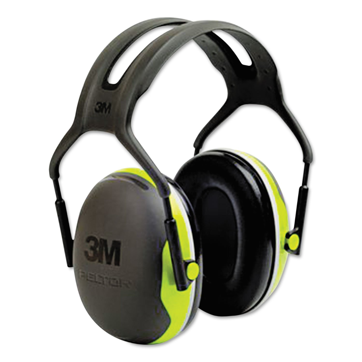 3M X4A PELTOR X4 Earmuffs, 27 dB NRR, Fluorescent Yellow-Green