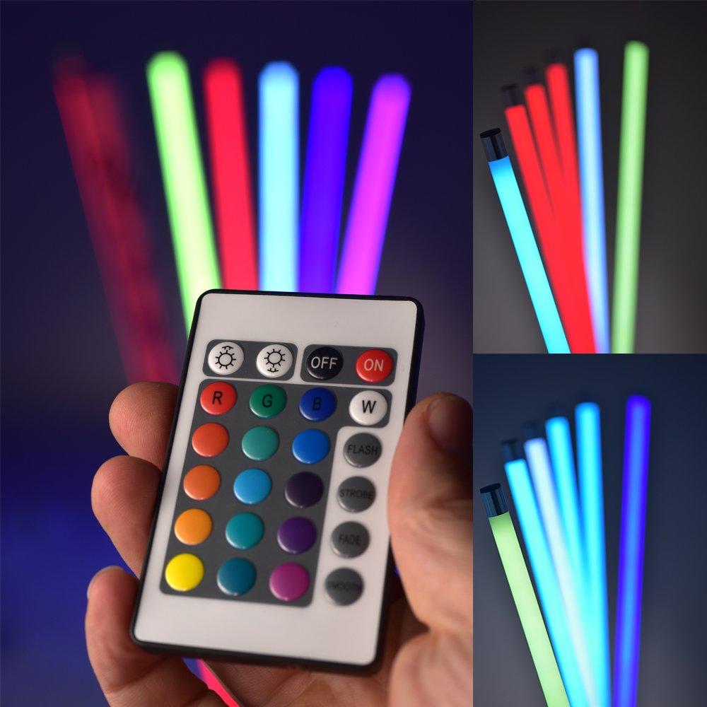 LED Leuchtstick mobil oder montierbar Leucht Stab mit Batterieversorgung
