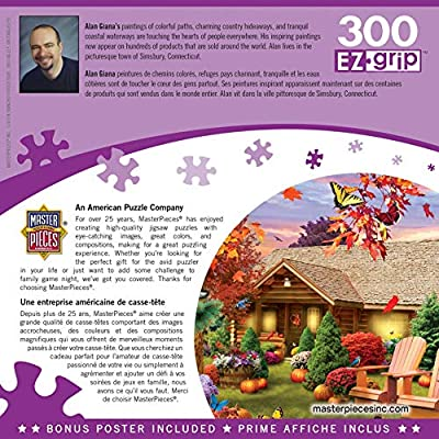 MasterPieces Memory Lane - Autumn Warmth 300-Piece EZ Grip Jigsaw Puzzle: Toys & Games