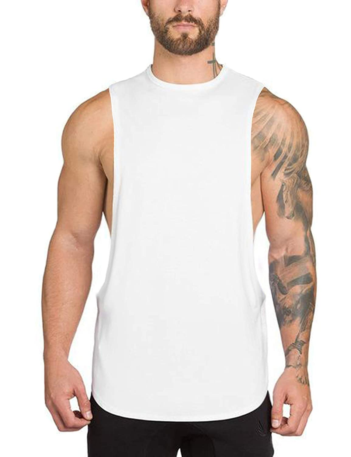 COOFANDY Men's Workout Tank Tops Bodybuilding Fitness Athletic Sports Muscle Tank Gym Stringer 71000469