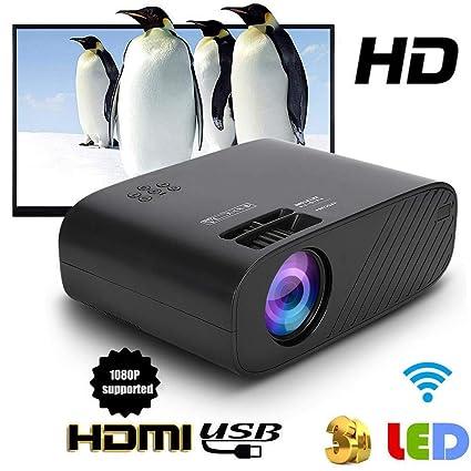 Proyector de video, mini proyector LED Proyector portátil 480P HD ...