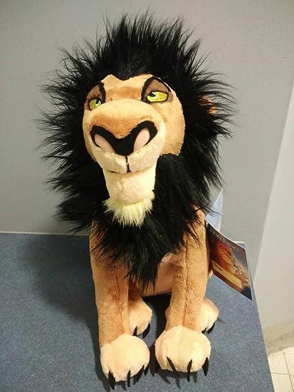 Amazon Com Disney The Lion King 15 Scar Plush Rare Soft Stuffed Doll Toy Toys Games