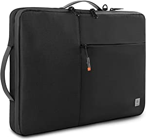 WIWU Laptop Carrying Case for 16-inch MacBook Pro,15-15.4 inch MacBook Pro Retina, Waterproof Notebook Sleeve Bag for Dell XPS 15, Microsoft Surface Book 3/2, ThinkPad X1 Extreme Gen 2.(Black)