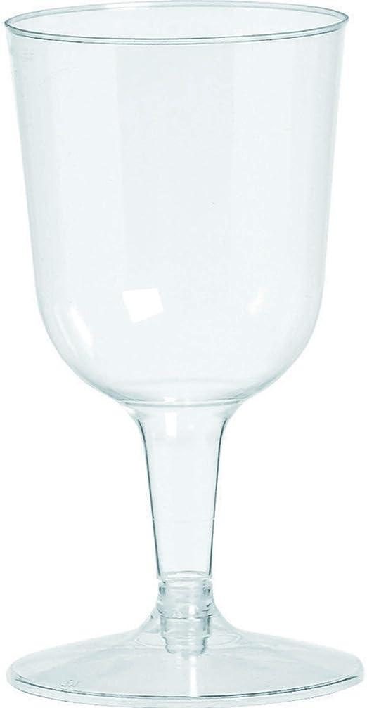 Amscan Big Party Pack Clear Plastic Wine Glasses 5 5 Oz 32 Wine Glasses