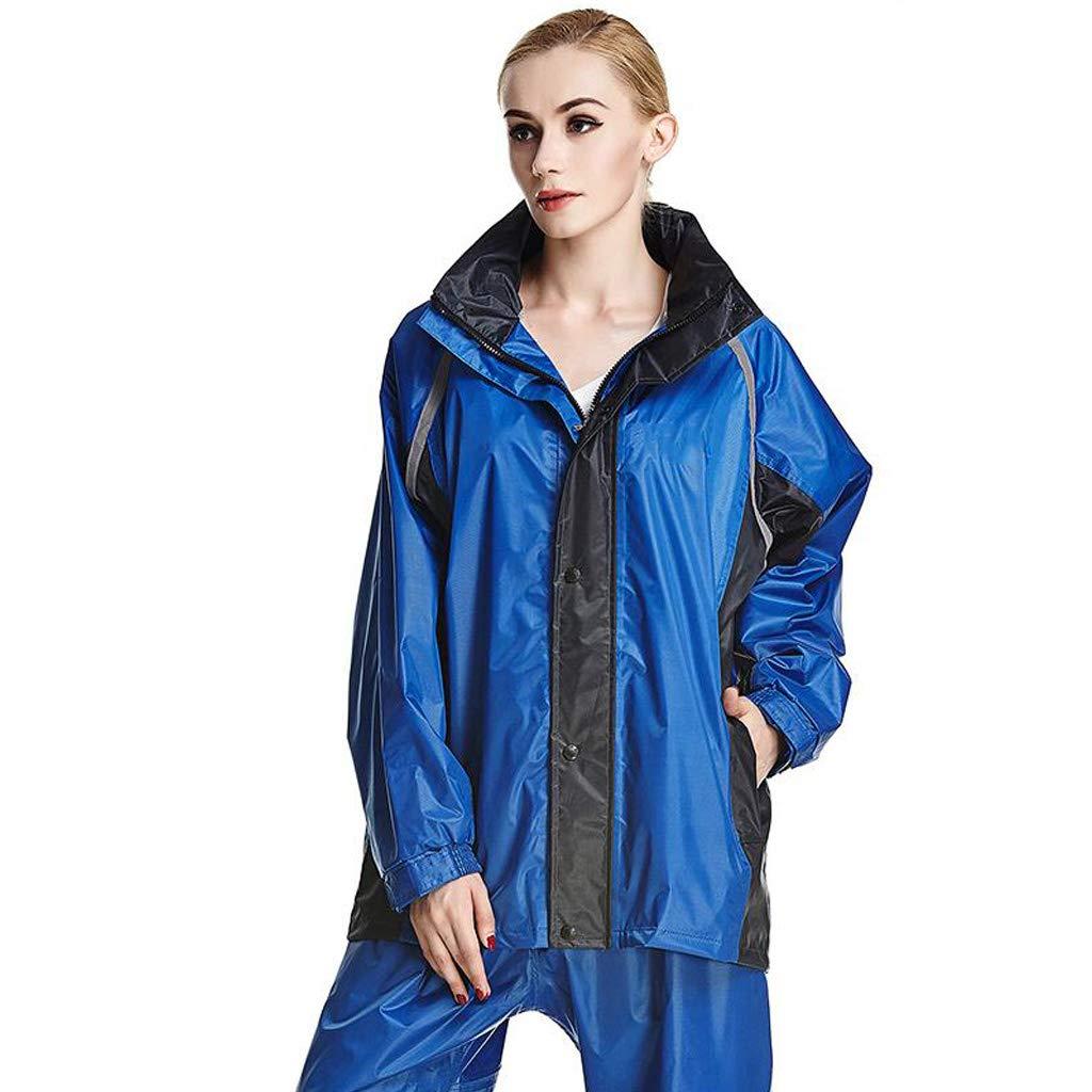 Erwachsene verdicken Regenmantel Frauen Regenbekleidung Männer Windjacke warme wasserdichte Regenjacke Hosenanzug für Reisen im Freien zu Fuß Ski Golf