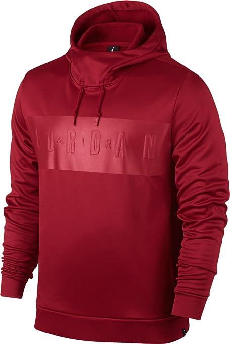 Nike Aj Therma Lite Po Sudadera Línea Air Jordan de Baloncesto, Hombre, Rojo (