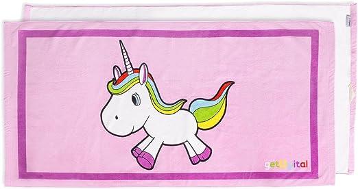 Einhorn Badetuch Handtuch Strandtuch Duschtuch Unicorn 70 x 140 cm