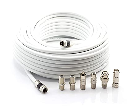 THE CIMPLE CO | Digital Coaxial Cable Kit with Universal Ends |RG6 Coax Cable and