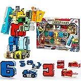 SSJ Kids Children Educational Toys Magic Number Combined Robot Transformers Robots 15 pieces Set