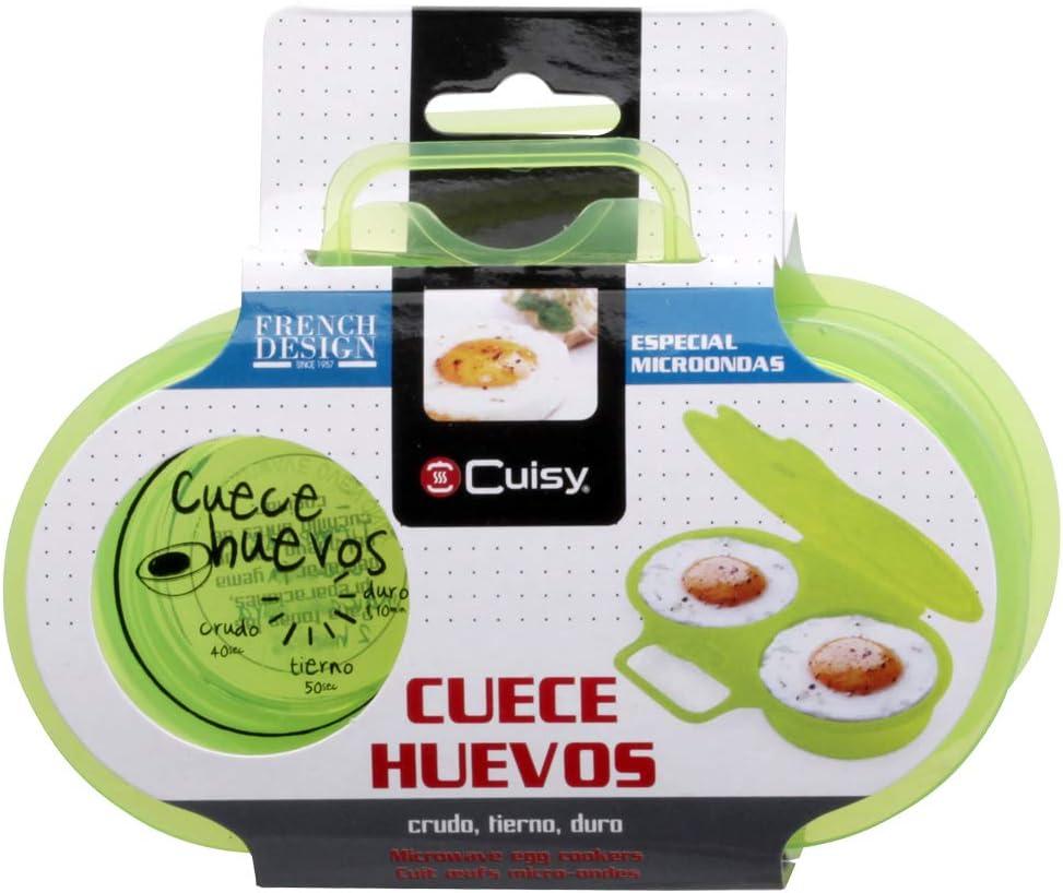 Cuisy KC2152 - Dispositivo para cocinar huevos en las microondas, 1 unidad [colores surtidos]