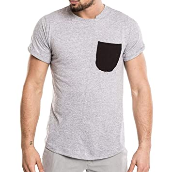 Homme T Shirt Col Courte Routinfly Manche Rond ElastiqueMode SMzVUpq