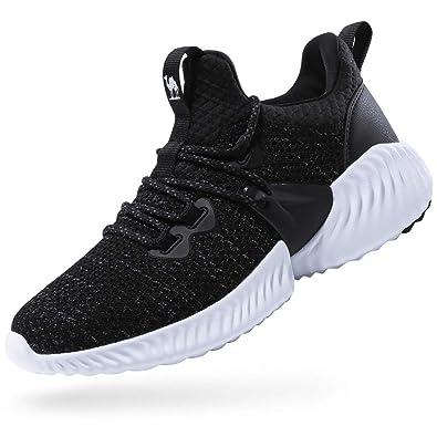 CAMEL CROWN Zapatillas de Deporte,Zapatos de Running Mujer,Zapatos para Caminar,Zapatillas Cordones,Resistente al Choque Absorción de Impactos,Negro: ...