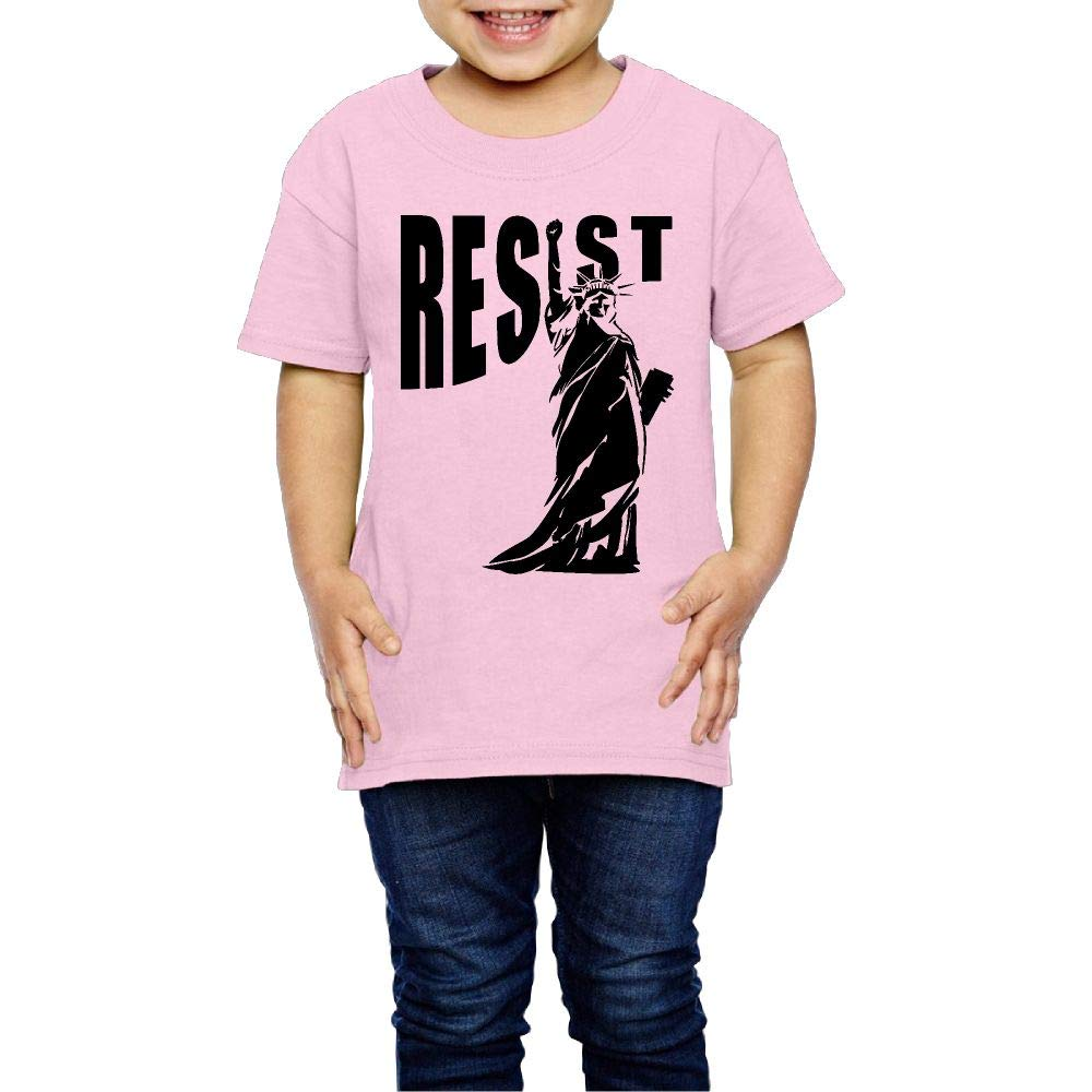 Resist Statue of Liberty 2-6 Years Old Children Short Sleeve Tshirt