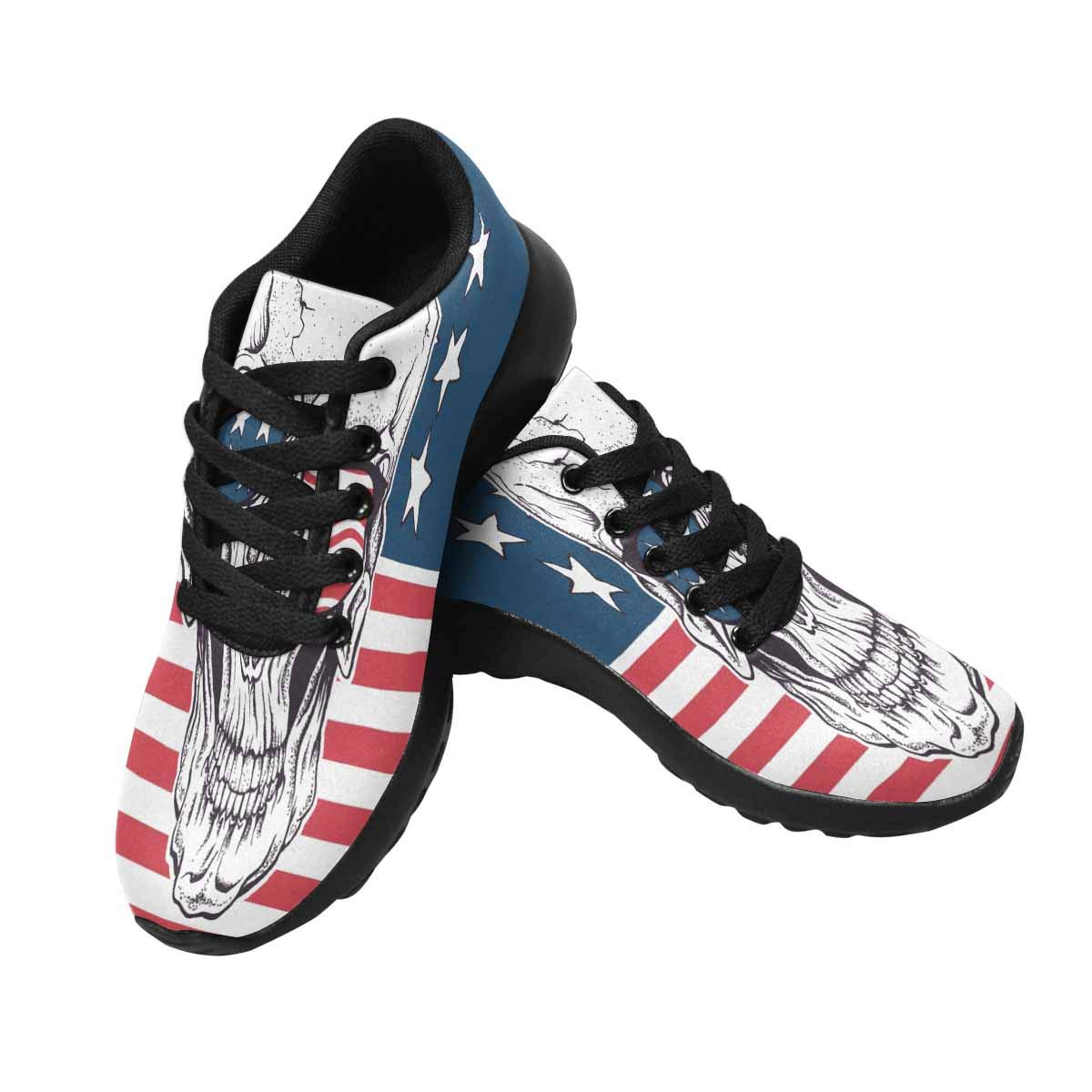 InterestPrint Women's Running Athletic Shoes Sugar Skull in Sunglasses US13