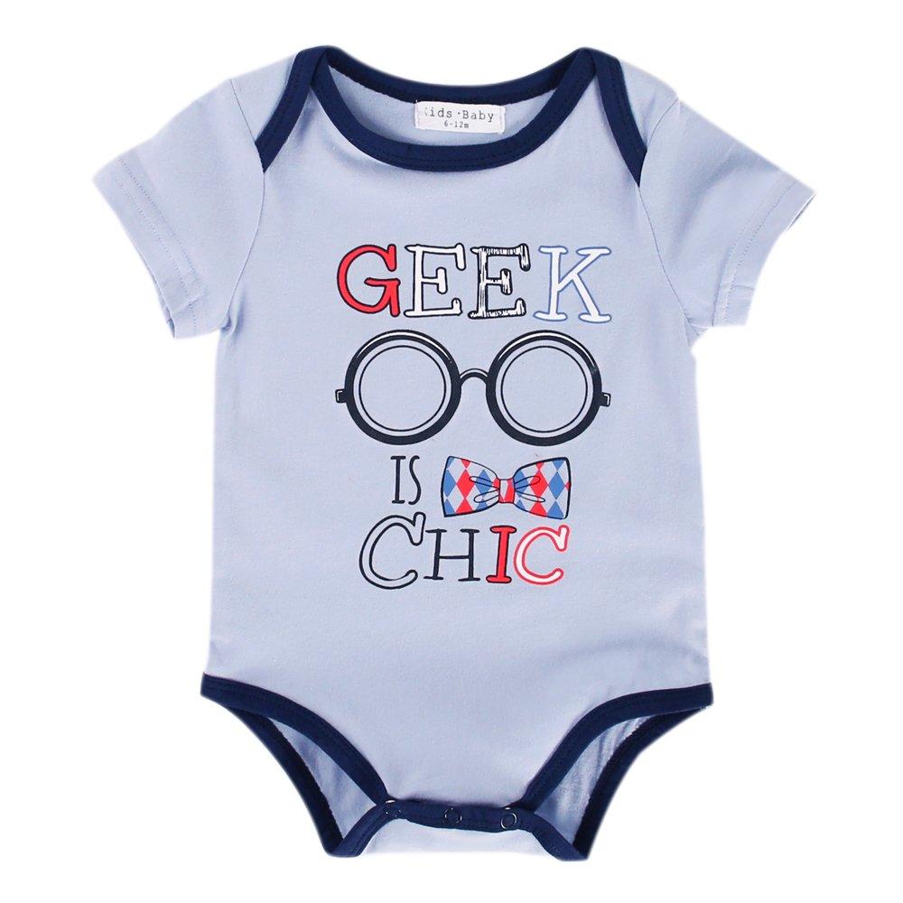 21d7ca0e2757 Amazon.com  Vimuntado Baby Bodysuits Unisex Newborn Clothes Funny Onesie 0  3 6 9 Months Summer Girls Romper Jumpsuit Infant Boy  Clothing