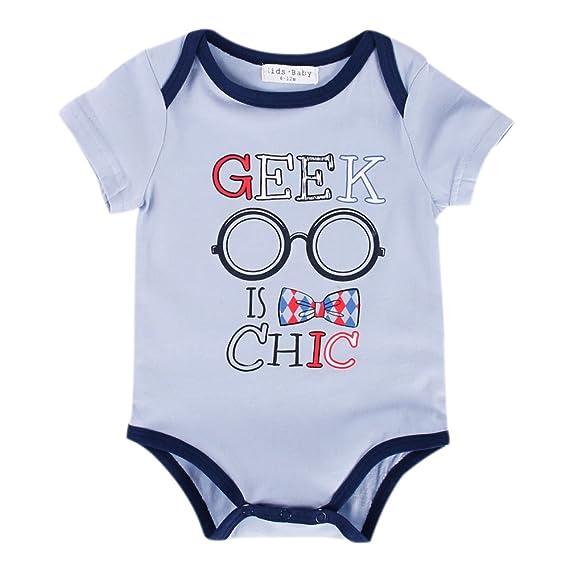 Sanlutoz Bodysuits del bebé Unisexo Ropa para recién nacidos Funny Onesie 0 3 6 9 Meses Verano