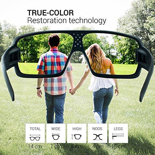 accf6dbc45 Verdster Gafas De Sol Gran Tamaño Hombres – Aptos para Conducir – Montura  Envolvente Cómoda con Protección UV – Anteojos De Estilo Terminator o  Robocop ...