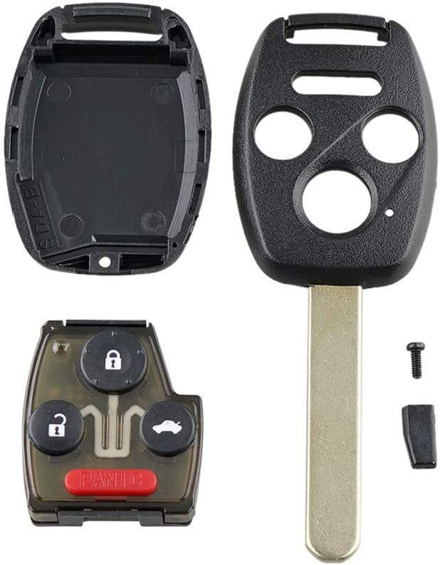 WFMJ for OUCG8D-380H-A Honda Fit Odyssey Ridgeline Keyless Entry Remote 4 Buttons Key Case Fob