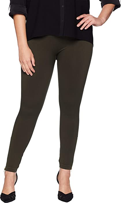 850207d6b47 SPANX Women s Plus Size Look at Me Now Seamless Side Zip Leggings Deep  Olive 2X 26