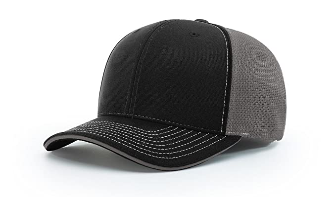 a5357e8de2074 Richardson 172 Pulse SPORTMESH R-Flex Blank Baseball Cap Fit Hat at Amazon  Men s Clothing store