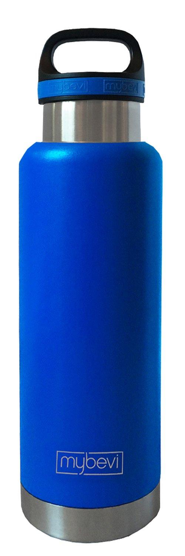 Blue MyBevi Premium Campus Bottle Vacuum Insulated Stainless Steel Travel Bottle 32 oz