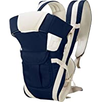 My Newborn Cotton 4 Way Carrying Position Baby Carrier with Waist Belt, Dark Blue