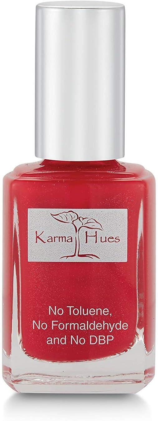 Karma Organic Natural Non toxic Nail polish - Vegan and Cruelty Free Nail Paint for Nail Art - Fast Drying Nail Polish for Women - Long Lasting Nail Polish (Texas Red)