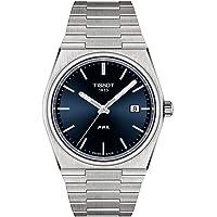 Tissot mens PRX 316L stainless steel case Dress Watch Grey T1374101104100