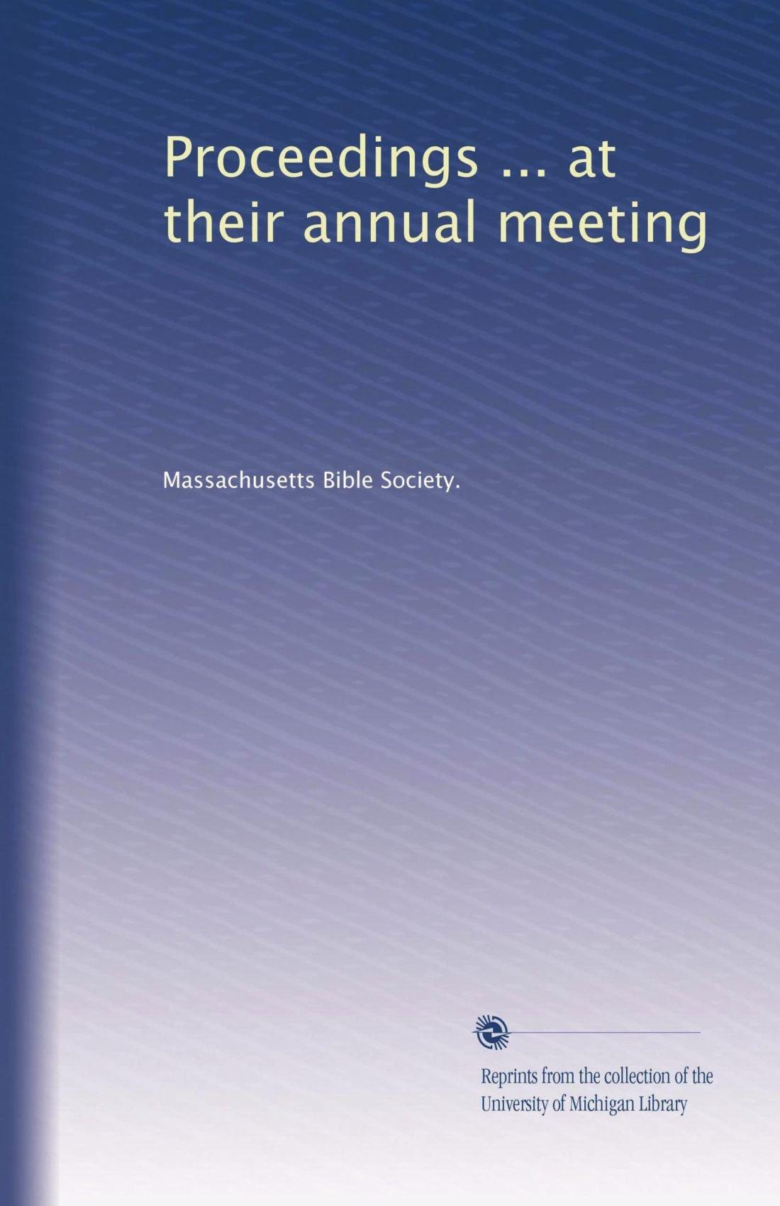 Download Proceedings ... at their annual meeting (Volume 2) pdf