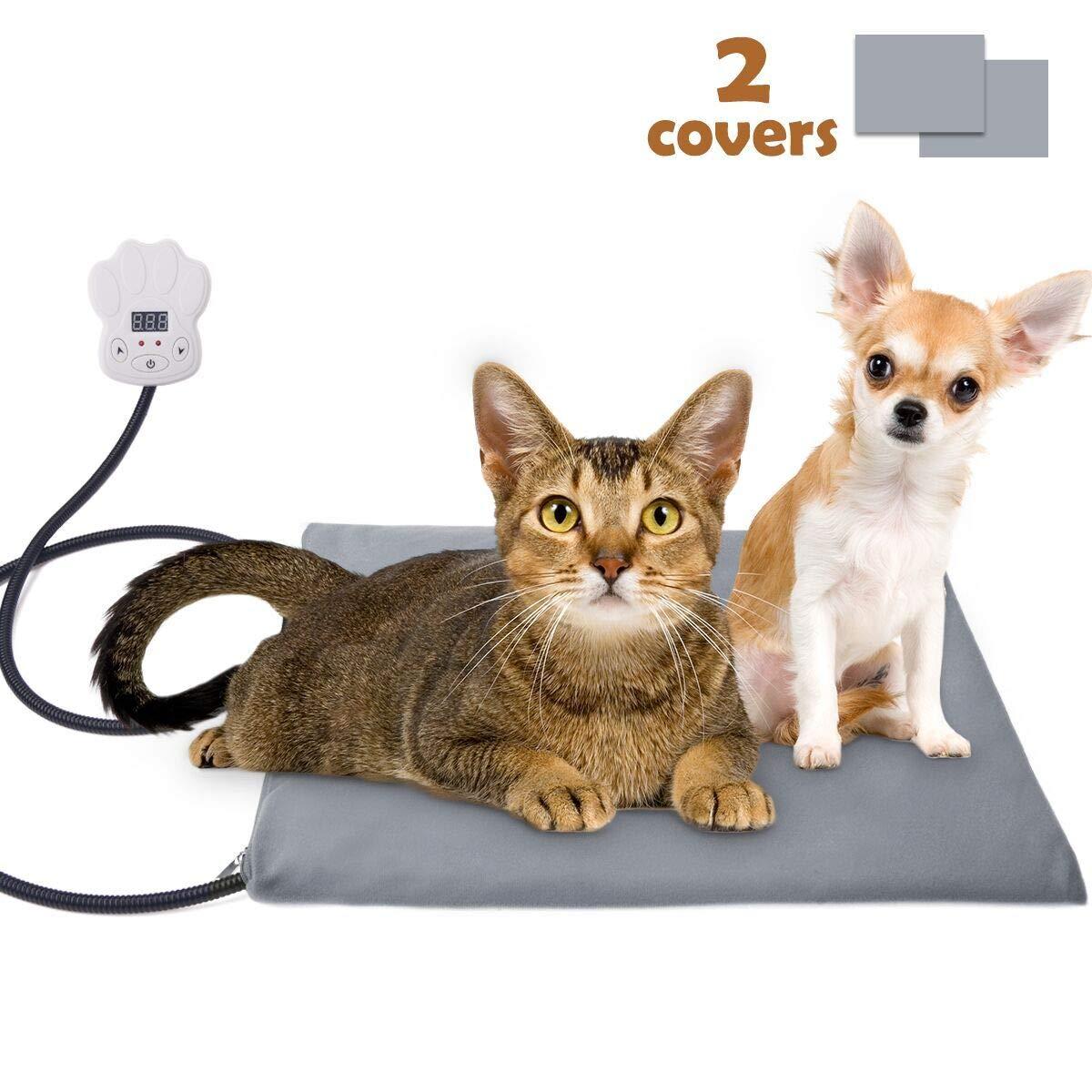Sotical Manta Eléctrica para Perros y Gatos, Impermeable Almohadilla Eléctrica con Inteligente Constante de Temperatura, Cojín De Calefacción con 2 ...