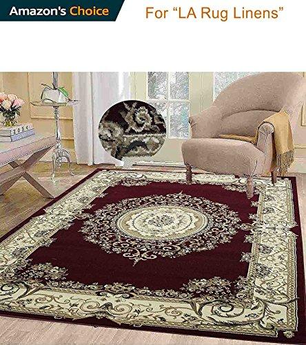 Persian Elegance Traditional Tabriz Classic Versace Paisley Burgundy 8'x10' Area Rug 1.2 Million Point Bedroom Living Room Decor ( Tabriz 415 Burgundy - Cheap Versace Buy