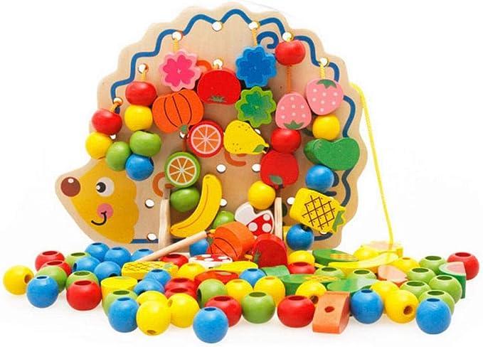 YL LY Juguete de Erizo de Madera para Niños Juguete de