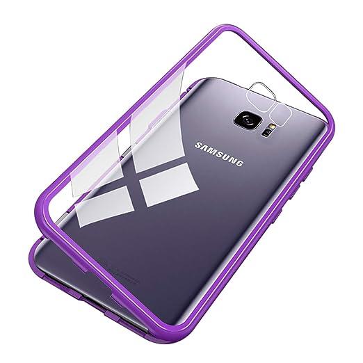 wholesale dealer ee8c3 de11e Amazon.com: Galaxy S7 Edge Magnetic Case, UNIYA Tempered Glass ...