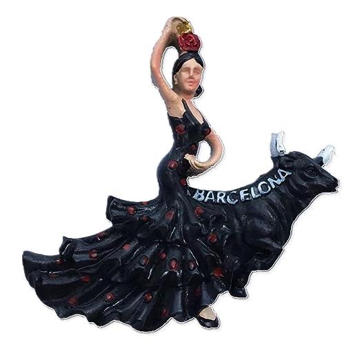 Flamenco Dancer, Barcelona España resina 3d fuerte imán para ...