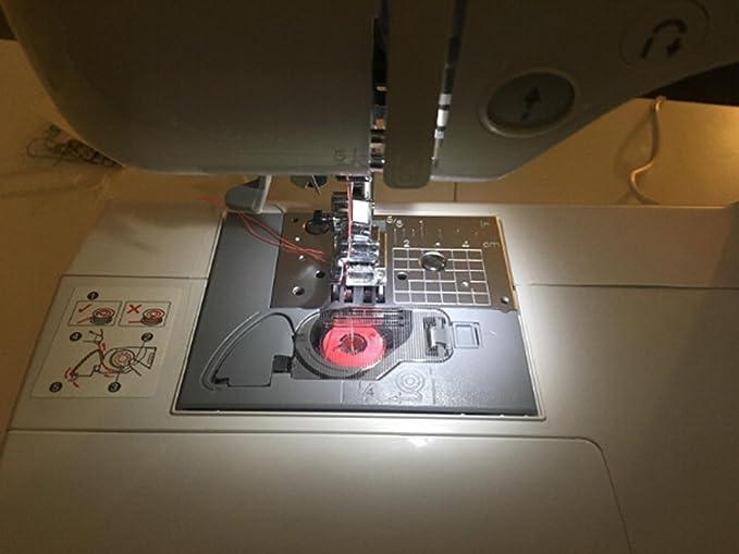 50 bobinas de plástico transparente para máquina de coser Brother ...