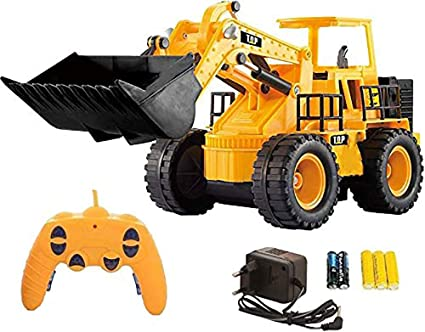 Webby Remote Control 5 Channel Construction JCB Truck, Multi Color