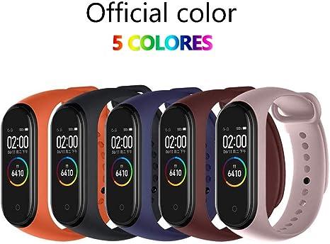 Compatible con Mi Smart Band 4,5 Piezas Correa para Xiaomi Mi Band 4 Pulsera Banda - Silicona Reloj de Recambio Brazalete Coloridos Correas para Xiaomi Mi Band 4: Amazon.es: Deportes y aire libre
