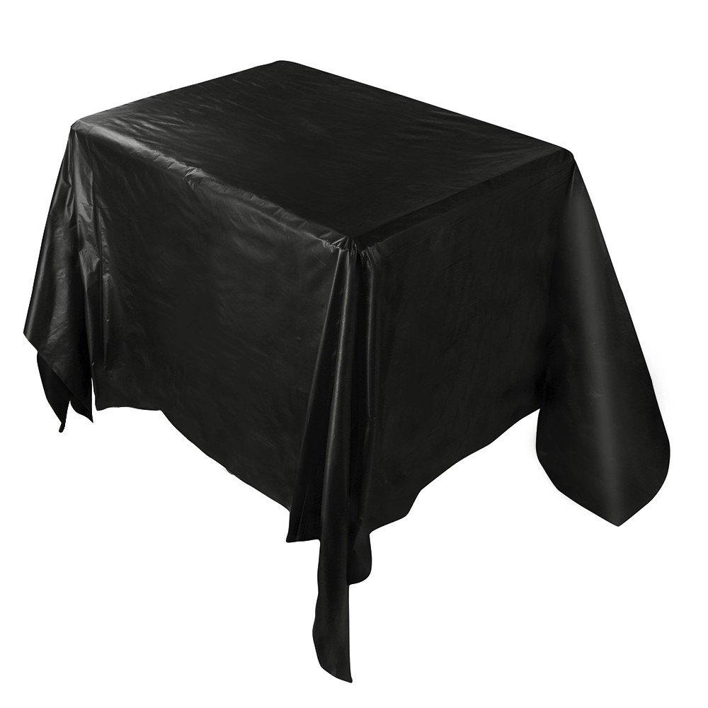Smdoxi_home 防水プラスチックテーブルカバー テーブルクロス カバー パーティー ケータリング イベント テーブルウェア One Size Smdoxi00Ak One Size ブラック B07KXP6QZ4