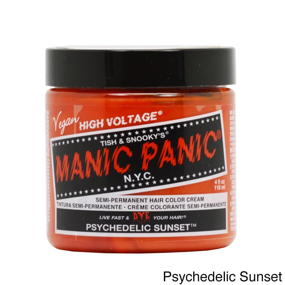 Manic Panic Hair Dye Classic Cream Color Psychedelic Sunset Orange Semi-Permanent Formula by Manic Panic BEAUTY by Manic Panic