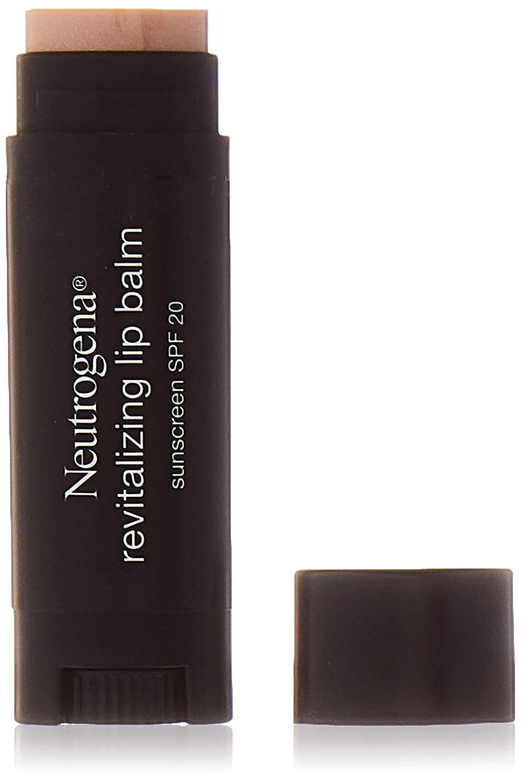 Neutrogena Revitalizing Lip Balm Spf 20, Sheer Shimmer 10.15 Oz. (Pack of 2)