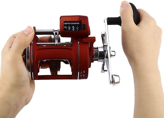 Carrete de pesca para mano izquierda o derecha, 12 rodamientos con ...