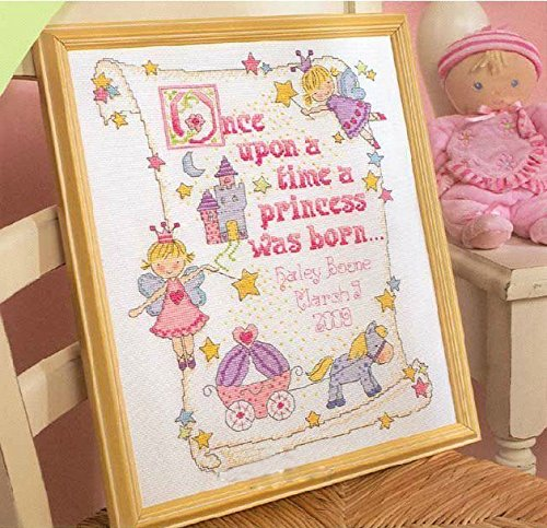 - Girl Baby Certificate Cross Stitch Count Cross Stitch Kits ,Dmc Thread 144*184stitch 36*43cm, Cross Stitch Kit