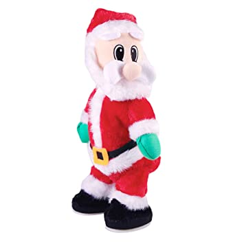 Christmas Toys.Toymytoy Christmas Santa Claus Figure Twisted Hip Twerking Singing Electric Toys For Kids Xmas Decorations Funny Christmas Gifts