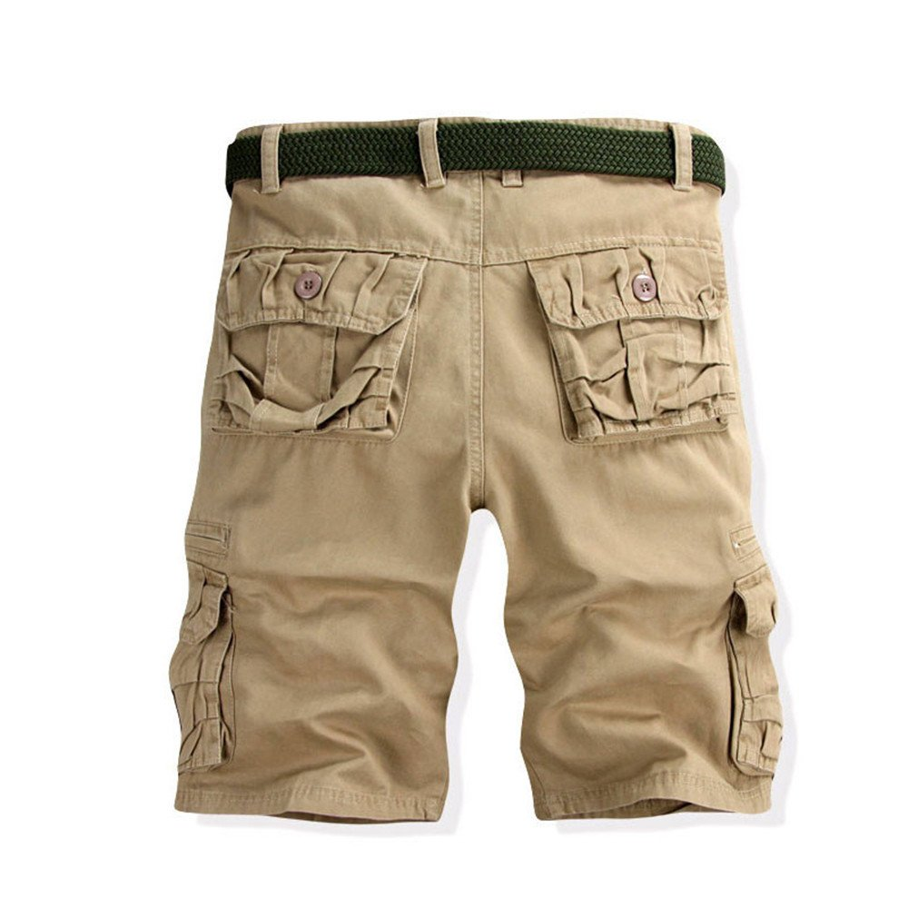 Eruption_X  Men's Cotton Casual Pure Color Army Cargo Camo Combat Work Pants with Pocket