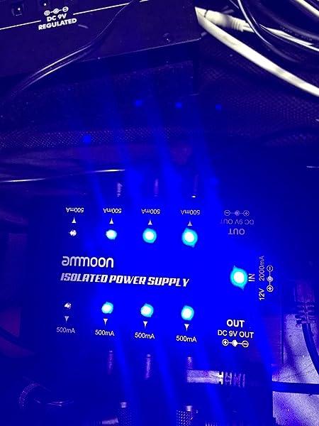 ammoon-パワーサプライ-8独立9V-ギターエフェクター用-コンパクト
