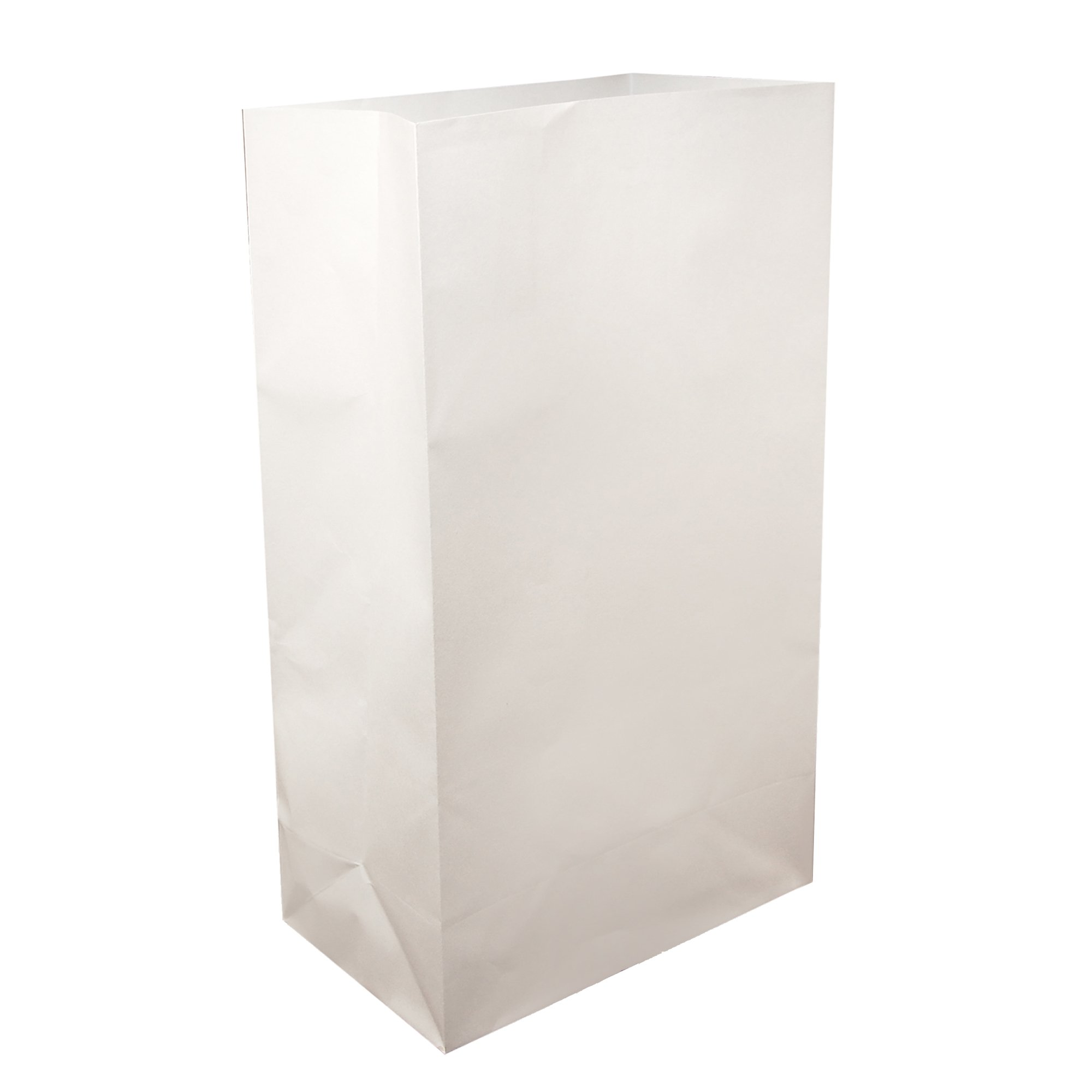 Lumabase 00410 100 Count Standard Luminaria Bags, White by Lumabase